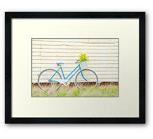 Classic Ladies Vintage Bicycle... Framed Print