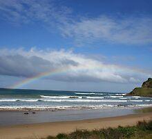 Great Ocean Road Rainbow by liquidlines