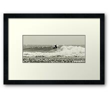 Snappper Rocks Surfer Framed Print
