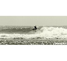 Snappper Rocks Surfer Photographic Print
