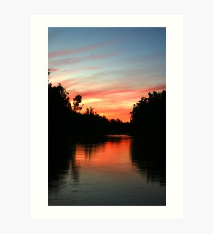 River Murray Sunset Art Print