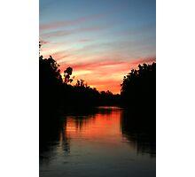 River Murray Sunset Photographic Print