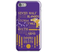 The Prophecy of Seven iPhone Case/Skin