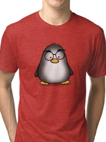 Eyebrow Penguin Tri-blend T-Shirt