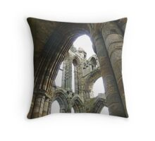 Whitby Abbey Ruins Throw Pillow