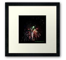 Martian Fireworks Framed Print