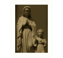 Mary and Jesus Art Print