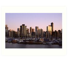 Vancouver Evening-1982 Art Print