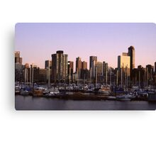 Vancouver Evening-1982 Canvas Print