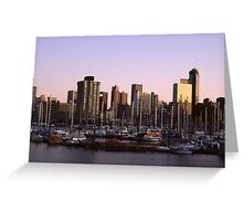 Vancouver Evening-1982 Greeting Card