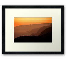 Marin Headlands Sunset Framed Print