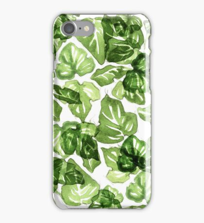 Green leafs pattern iPhone Case/Skin