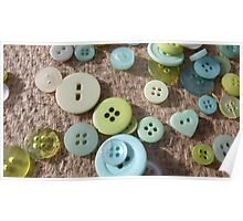 Button Green Two Poster