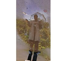 Weather reporting with Inspector Gadget. Photographic Print