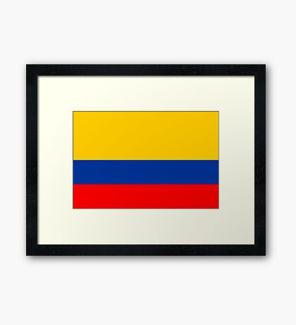 Colombia, national id Framed Print