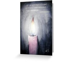 Candle in the Dark Greeting Card