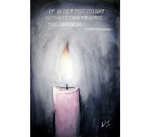 Candle in the Dark Photographic Print