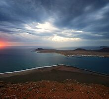 Lanzarote at dusk by Amaya Solozabal