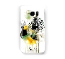 two deer in the subconscious wood Samsung Galaxy Case/Skin