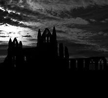 Whitby Abbey silhouette by davidhodson502