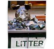Litter pig Poster
