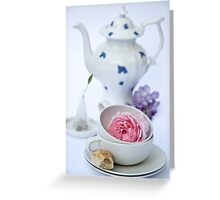 Tea and Cakes Greeting Card