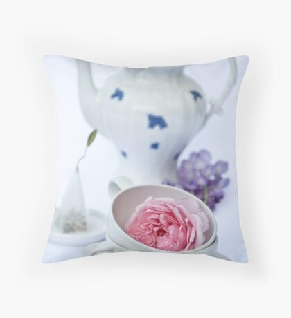 Tea and Cakes Throw Pillow