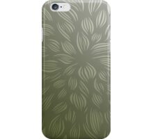 flowerburst (green) iPhone Case/Skin