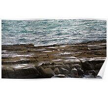 Gulls & Rocks Poster