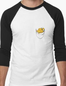 Pocket Jake the dog. Adventure time Men's Baseball ¾ T-Shirt
