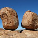 Precariously Poised - Devils Marbles, Northern Territory by Richard Cassar