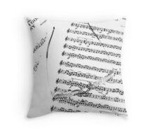 Music Score Throw Pillow