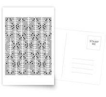 Helo - modern pattern design gift for college dorm decor trendy monochromatic grey neutral bold Postcards