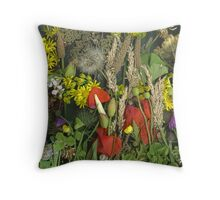 weeds from Sewerby cliff - July Throw Pillow
