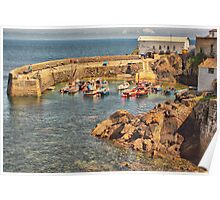 Coverack Harbour Poster