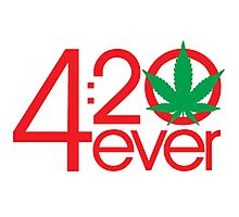 4:20 4ever (Light backgrounds) Photographic Print