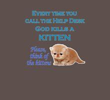 Help Desk Kitten Mens V-Neck T-Shirt