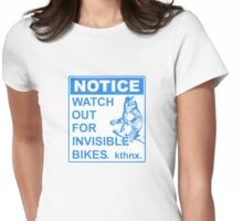 Invisible Bike Womens Fitted T-Shirt