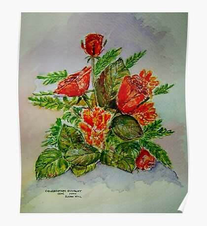 Celebration Bouquet Poster