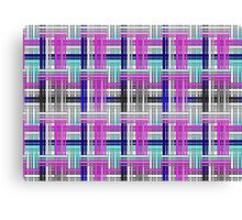 Basket weave pattern Canvas Print