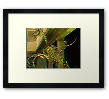 3D The Lone Ranger and his horse Silver ride again! Framed Print