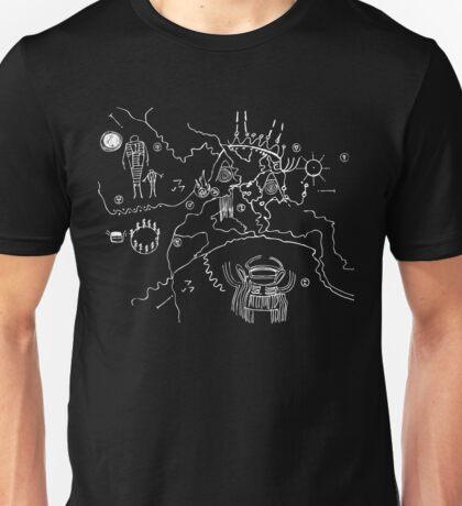 Twin Peaks Owl Cave Map Petroglyph Unisex T-Shirt