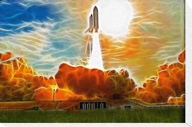 Shuttle Launch by Fred Seghetti