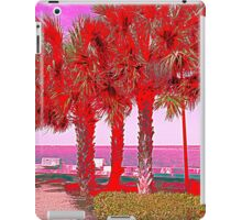 Palm Trees in Red iPad Case/Skin