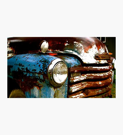 Patriotic Classic Chevy Truck Photographic Print