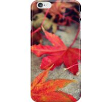 Maple Leaves Down iPhone Case/Skin