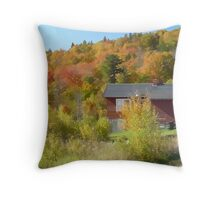 Vermont Hillside Throw Pillow