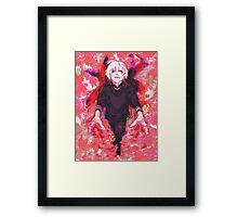 """Ken Kaneki """"Flowers"""" - Tokyo Ghoul Framed Print"""