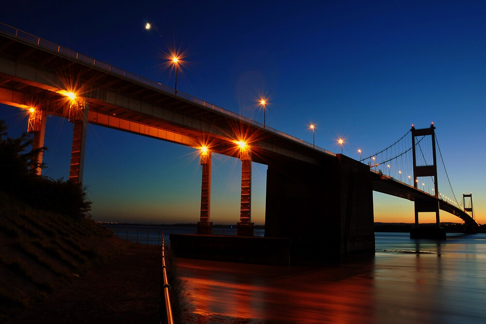 Severn Bridge at Night by Kevin Cotterell