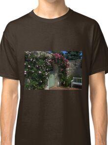 Green Garden Gate With Bench Classic T-Shirt